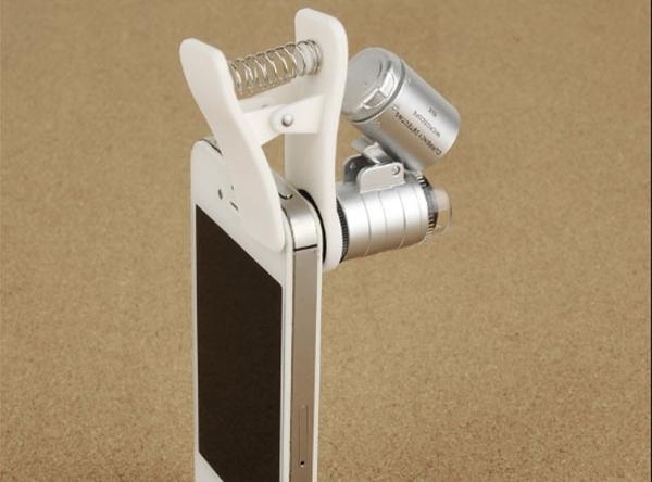 SUPERAKCIA - Optická šošovka s 3 LED svetlom, mikroskop, lupa... - aj s klipom pre mobily