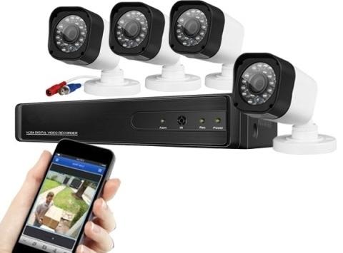 4 kamerový systém s rozhraním AHD pre vonkajšie aj vnútorné použitie
