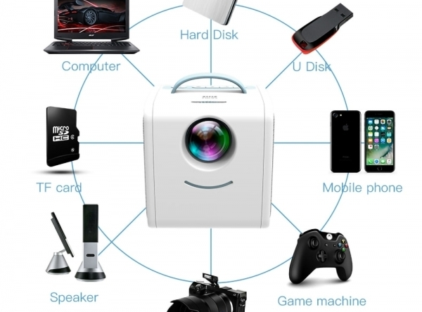 Prenosný mini LED projektor