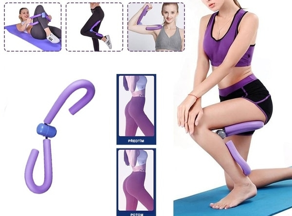 Posilňovač stehenných a prsných svalov