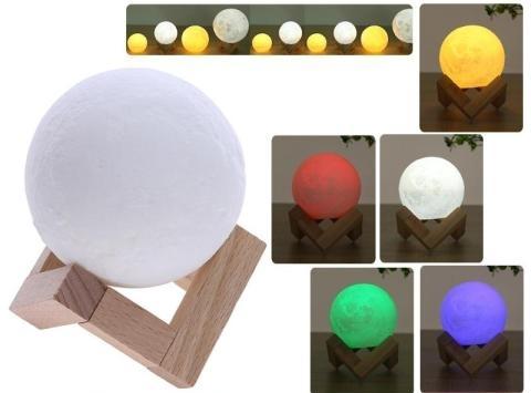 3D mesačná dotyková lampa, meniaca farby - 15cm