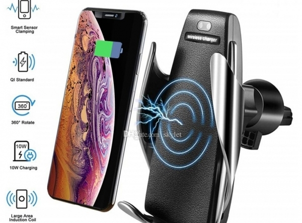 2v1 Držiak na mobil do auta s bezdrôtovým nabíjaním