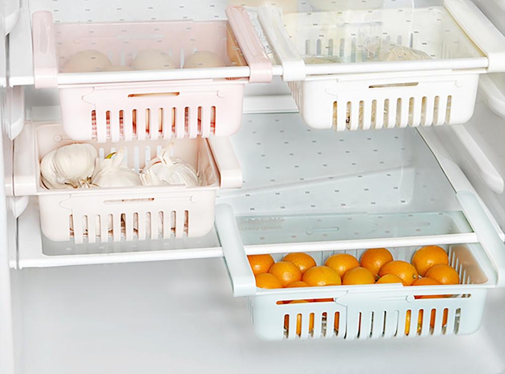 Výsuvný úložný box pre chladničky