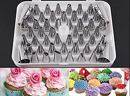 XXL Sada cukrárskych špičiek na zdobenie tort - 55 ks