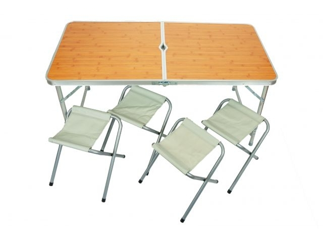 Skladací stolík + 4 stoličky - Najlacnejšie v SK!