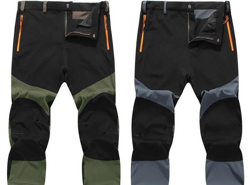 Outdoorové windproof strečové patchwork nohavice - VYSKÚŠANÝ TOVAR!