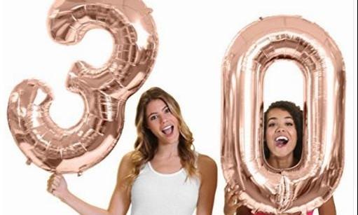 Zlaté číslice na každú oslavu - 1ks