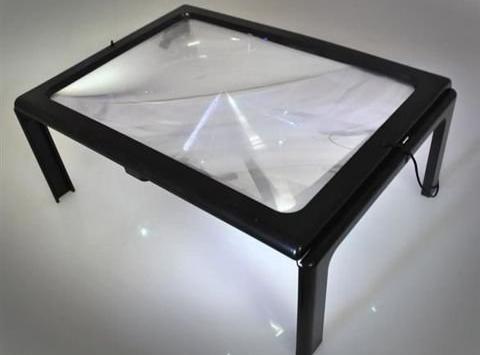 Čítacia lupa A4 + 4xLED svetlo