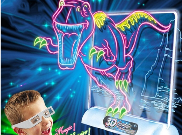 Magická interaktívna 3D LED tabuľa