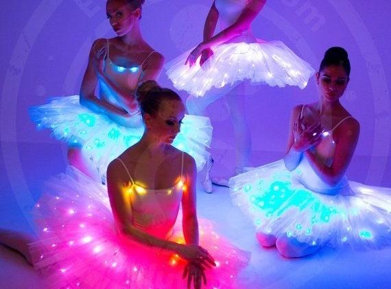 Čarovná LED svietiaca tutu suknička - 6 farieb