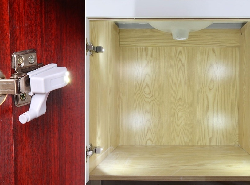 Nové - Automatické LED (3x) osvetlenie na nábytkové pánty - 4ks