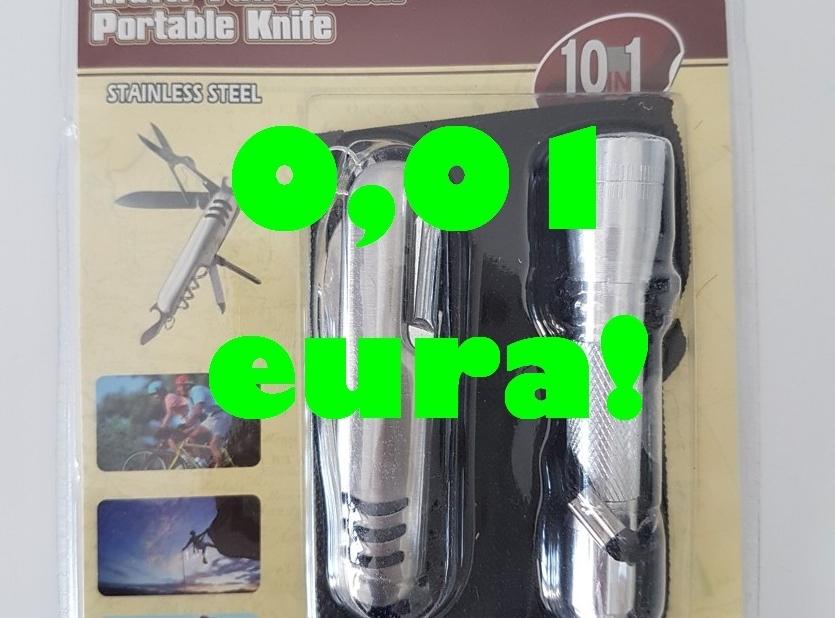 Multifunkčný nožík + LED baterka - 0,01 eura (pri objednávke nad 9,99 eura)