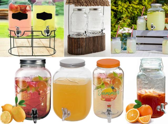 8-litrový sklenený džbán s kohútikom na zdravé nápoje