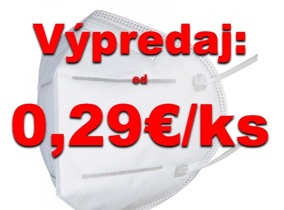 Respirátory ffp2 - 50ks (0,29/ks)