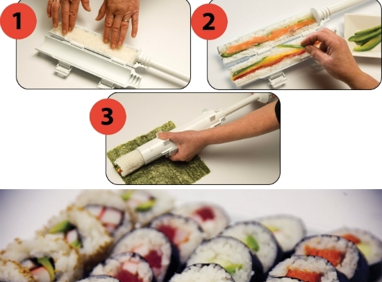 Strojček na prípravu sushi - sushi Bazooka