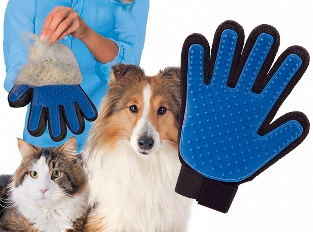 Superakcia - Vyčesávacio-masážna rukavica pre psov a mačky