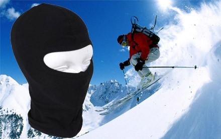 Bavlnená lyžiarska kukla (čierna)