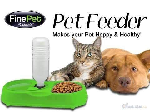 Pet feeder-miska na jedlo s automatickým dávkovačom tekutín