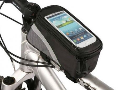 Vodeodolné puzdro na bicykel, motocykel... na mobil+úložný priestor
